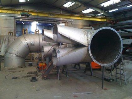 Industriële rvs luchtkanalen